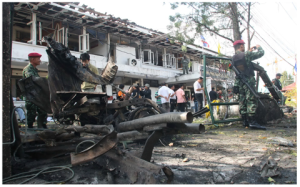Car bomb meant to attack defence volunteers